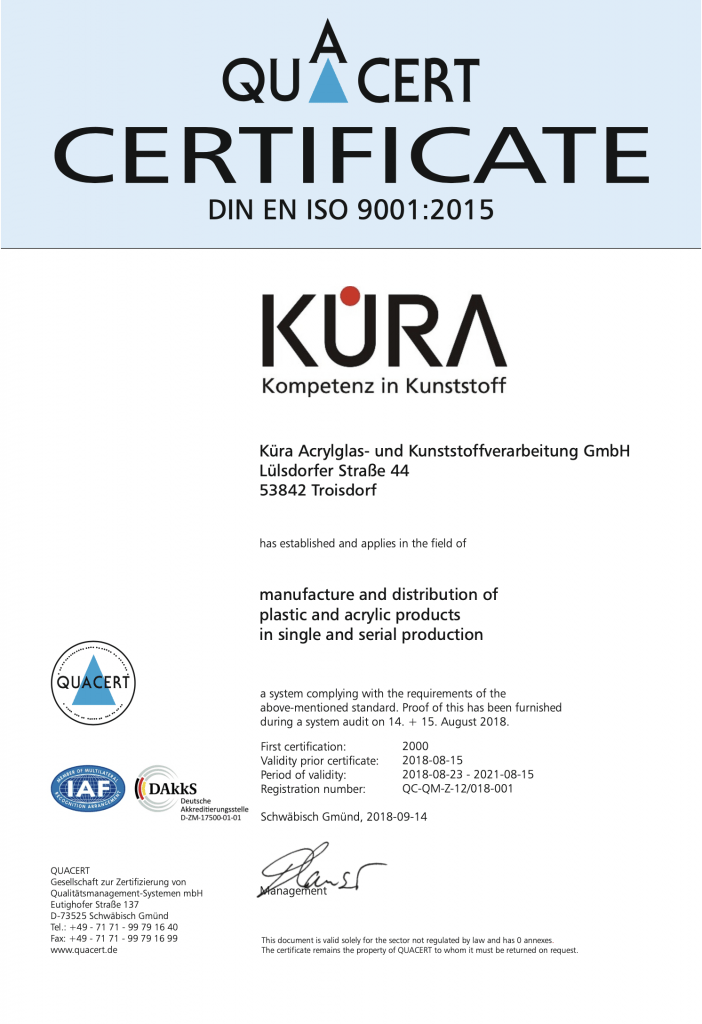 Certification Quality Management